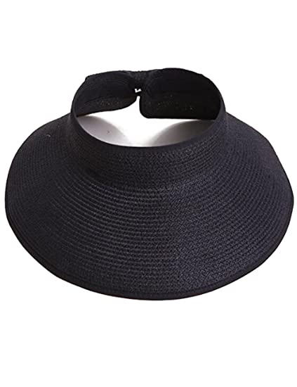 c1932d1ee6c2d Zgllywr Women UPF 50+Packable Crushable Roll Up Wide Brim Sun Visor Beach  Straw Hat