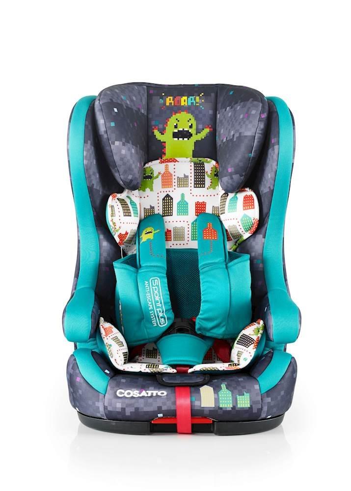Cosatto Hubbub Isofix Car Seat Group 1 2 3 9-36 kg Hustle Bustle