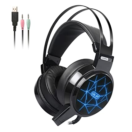 e2782ffa662 Gaming Headset, Hizek Over-Ear Stereo Wired Gaming Headphones for PC/PS4/