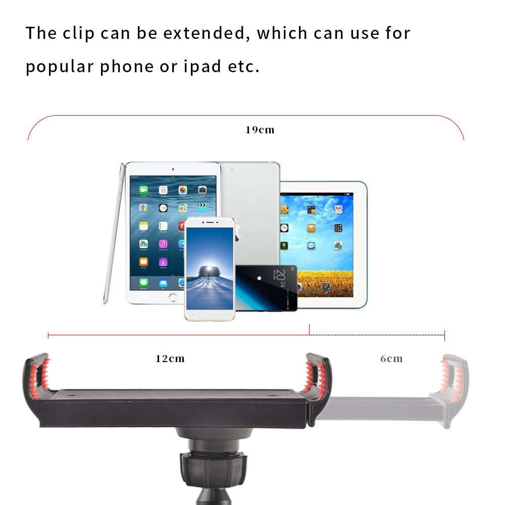SHiZAK 360 Adjustable Gooseneck Tablet Phone Stand Cell Phone Holder, Flexible Long Lazy Arm Clip Clamp Phone Mount for iPad iPhone Series/Samsung Galaxy Series and More