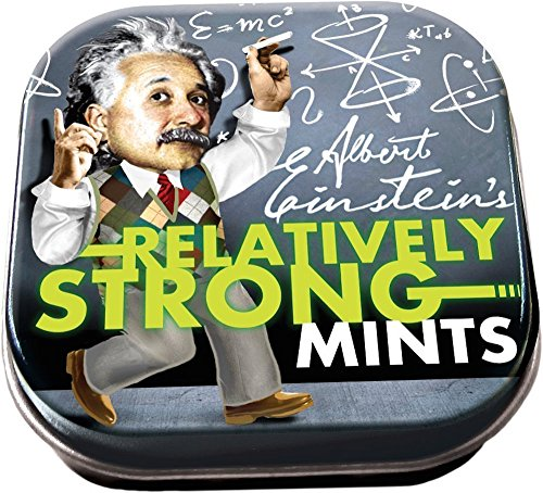 The Unemployed Philosophers Guild Einstein Relatively Strong Mints - 1 Tin of Mints