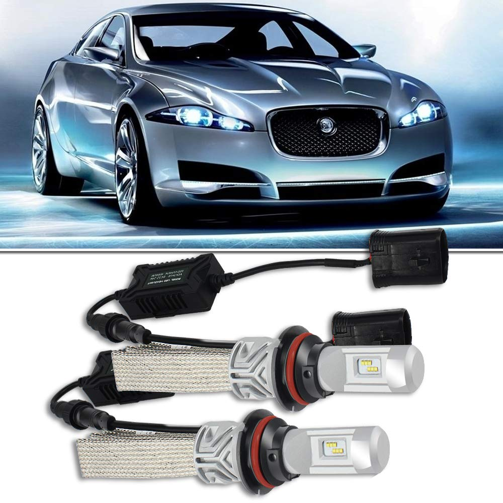 Amazon.com: QUAKEWORLD 9004 HB1 LED Headlight Bulbs - Philips Chips Dual  Hi/Lo Beam 8000LM 6500K Cool White - All-In-One Plug n Play Conversion Kit  For Ford ...