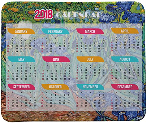 2018 Calendar Mouse Pad, Vincent Van Gogh Impressionist Art Mouse Pad (2018 Calendar)