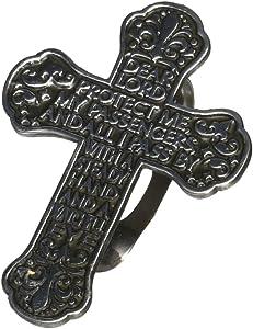 Cathedral Art Auto Visor Clip, Traveler's Prayer Cross