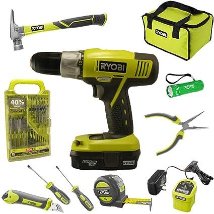 Amazon com: Ryobi Household Tool Set Bundle with Ryobi 18V