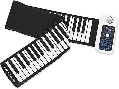 Mkxiaowei 88 Teclas Piano, Piano de 66 Teclas, enrollados a ...