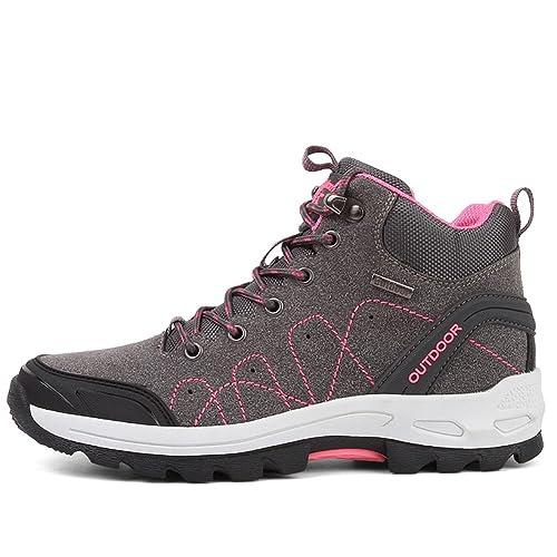 Fexkean Zapatillas de Trekking y Senderismo para Hombre Mujer Impermeables Botas de Senderismo Sneakers 35-