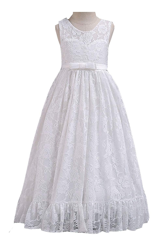 Amazon.com  Zumeet Kids Baby Girls Lace Covered Long Fancy Dress  Clothing feb3c0549