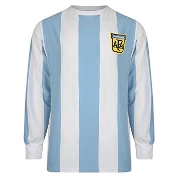 Camiseta oficial de Argentina de la final del mundial de 1978 - Estilo retro - 100 % algodón: Amazon.es: Deportes y aire libre