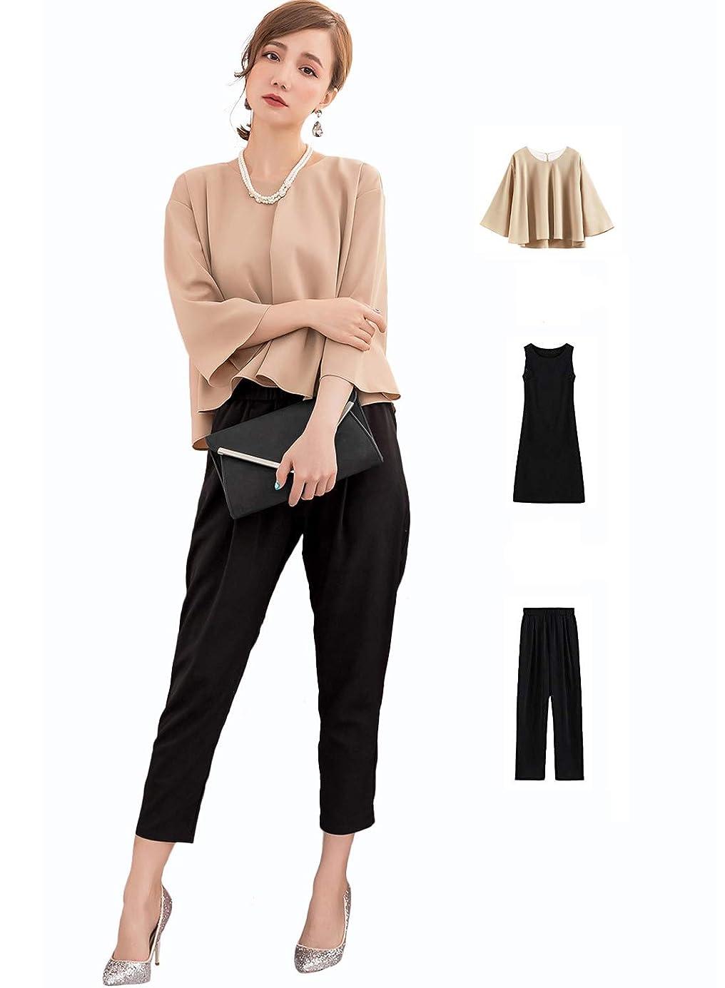 キャプション放散する未使用[美しいです] スーツ 洋服 レディース コート 二点セット ビジネス チェック柄 九分パンツ セット 春 秋 ウエスト締める イングランド風 スリム
