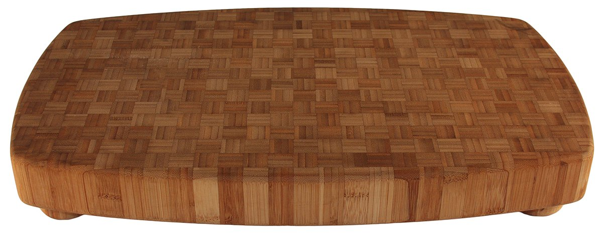 Totally Bamboo Butcher Block, 100% Bamboo Cutting, Chopping and Serving Board, 19.5'' by 11.75''