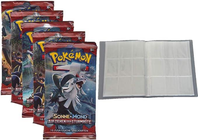 Deutsch 30 Seiten Pokemon Sonne /& Mond 1-5 Booster leere Sammelmappe