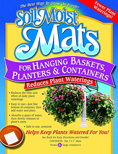 - Soil Moist Watering Polymer Plant Mats - Line Baskets and Containers and Reduce Plant Waterings By 50%