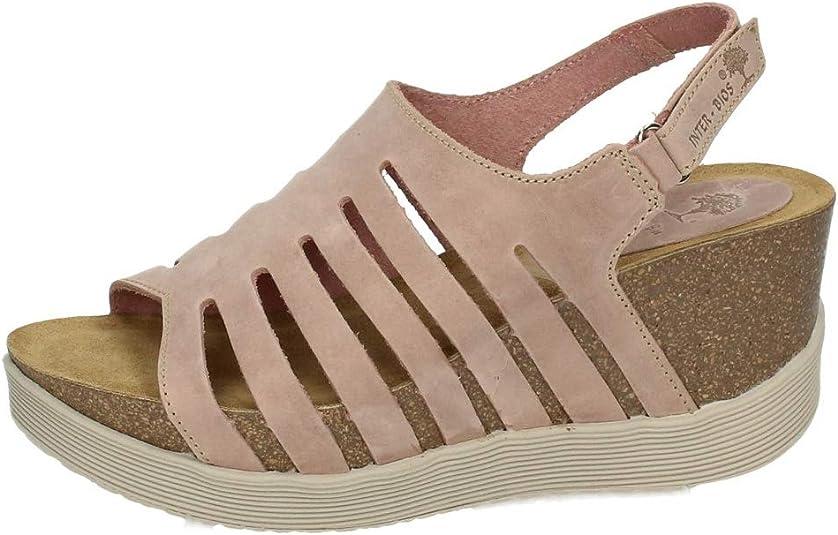INTER-BIOS 8405 CUÑA Bio Alta SALMÓN Mujer Sandalias TACÓN Salmon 38: Amazon.es: Zapatos y complementos