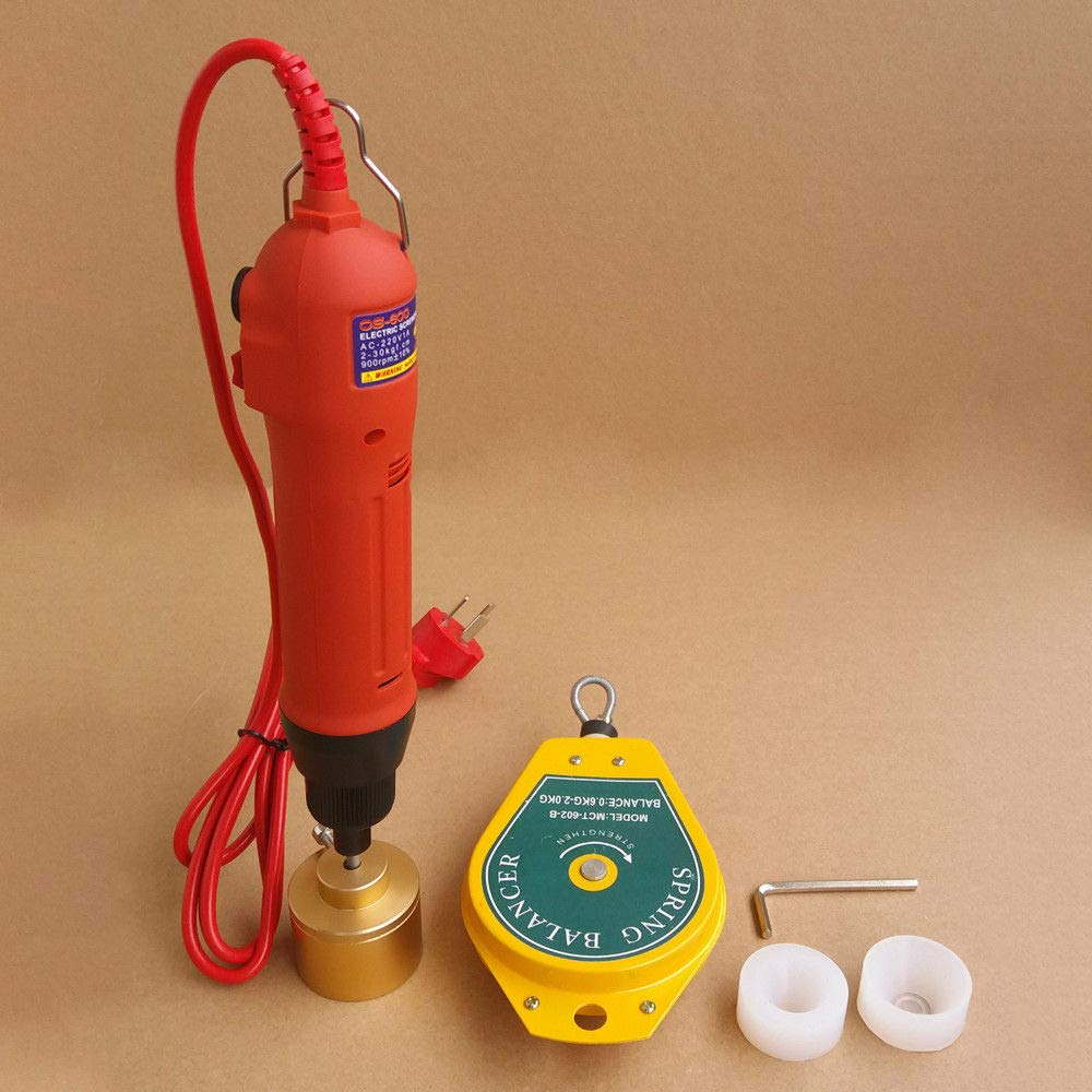 Handheld Electric Bottle Camping Machine, 110V 80W Manual Electric Capping Screw Capper Sealer Sealing Machine 10-30mm
