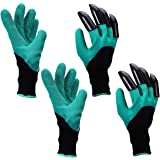 Yardsky Gardening Gloves with Right-Hand Claws for Digging Waterproof Garden Outdoor Genie Golve for Women and Men 2 Pairs Set