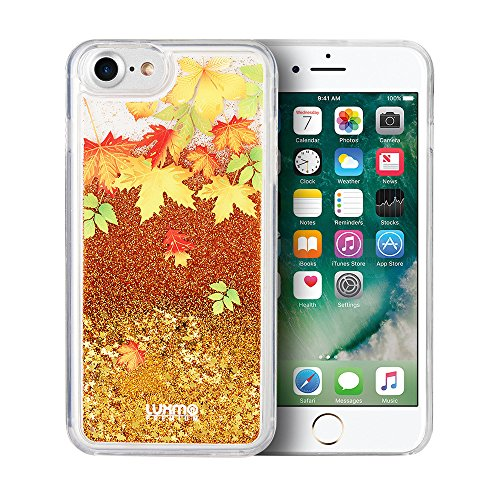 Copper Waterfalls Leaf (Autumn Leaves Cascading Liquid Glitter Waterfall Case for iPhone 8 Plus & iPhone 7 Plus)