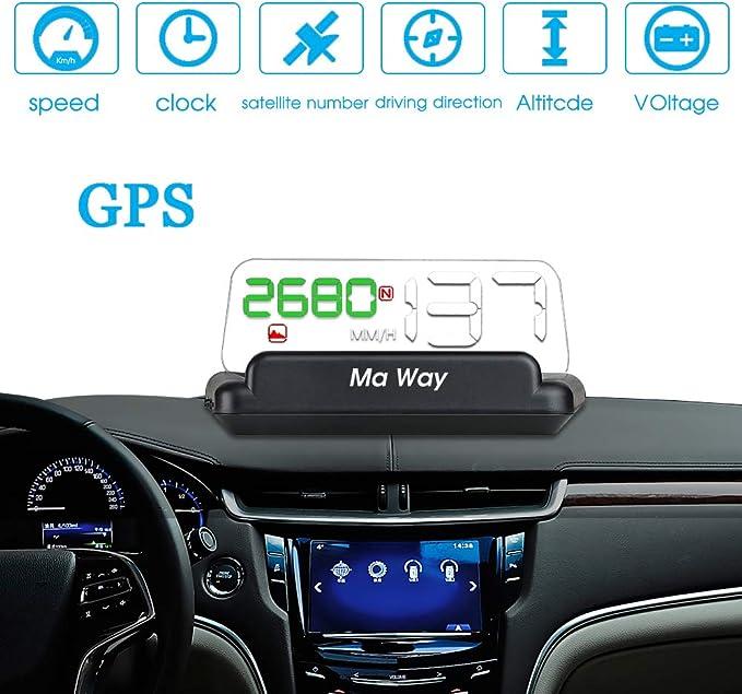 duhe189014 M10 HUD Auto Head-Up-Display-Film OBD2 Seilbahn Head-Up-Display Auto-Automatik-Diagnosesystem 3,8-Zoll-Windschutzscheibe Projecto-Auto-Geschwindigkeits-Head-Up-Display
