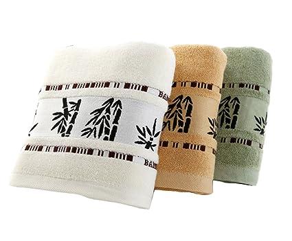 jgs-text 3 Pack algodón suave toalla de baño se puede lavar a máquina –
