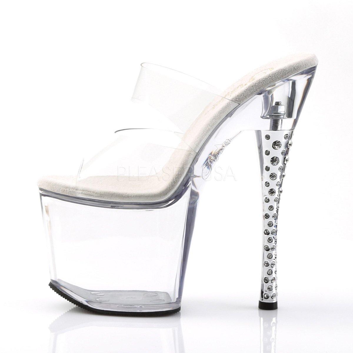 Higher-Heels PleaserUSA Gogo-Platform Gogo-Platform Gogo-Platform Diamond-702 Klar/Klar b70139