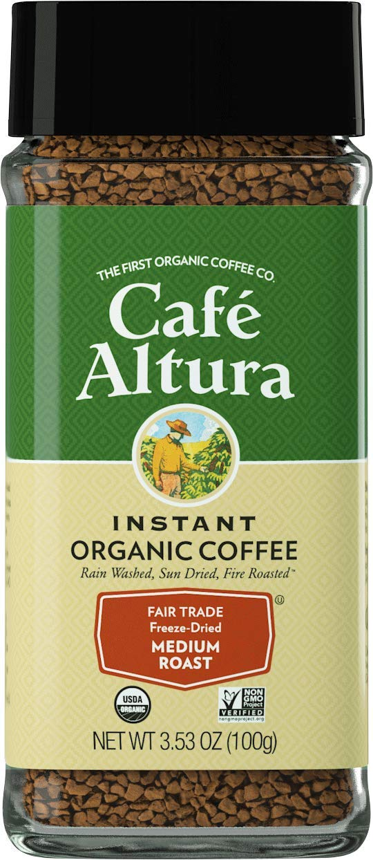 Cafe Altura Freeze Dried Instant Organic Coffee, Pack Of 2, Original, 76 Oz