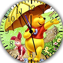 Borderless Winnie The Pooh Frameless Wall Clock Z07 Nice for Decor Or Gifts
