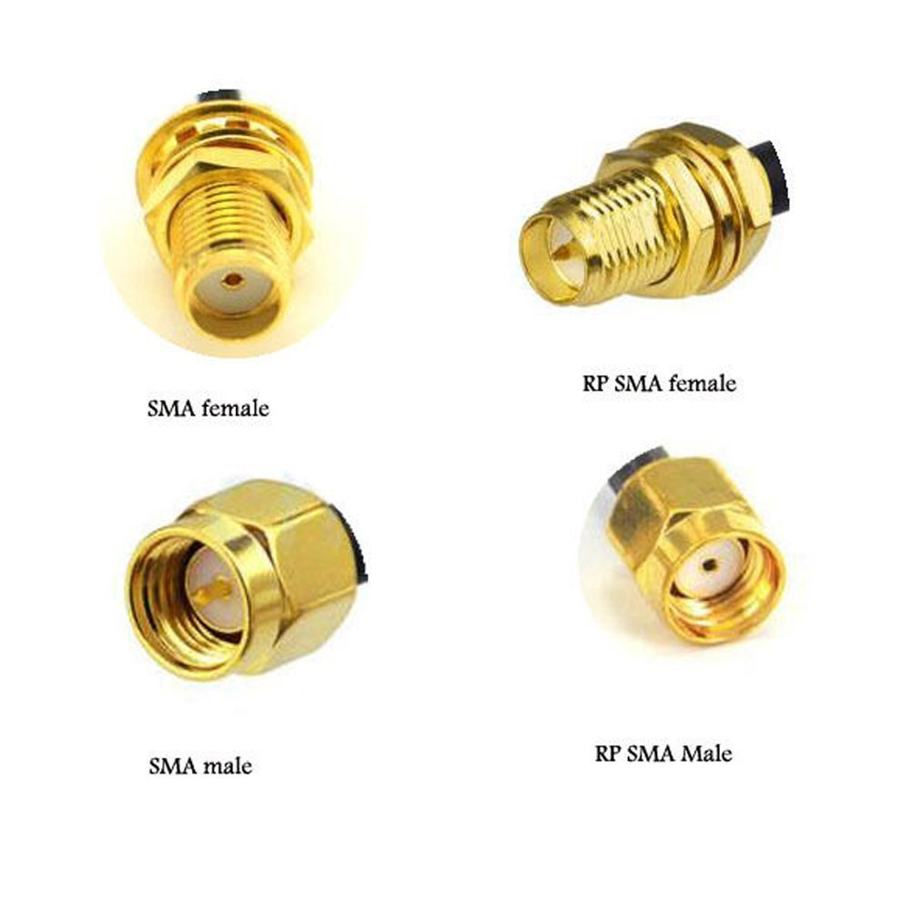 Pack de 2 RF adaptador coaxial conector SMA macho a SMA ...