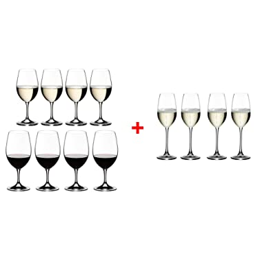 Riedel 5408/92 Ouverture Wine Glass, Set of 12, Red & White & Champagne