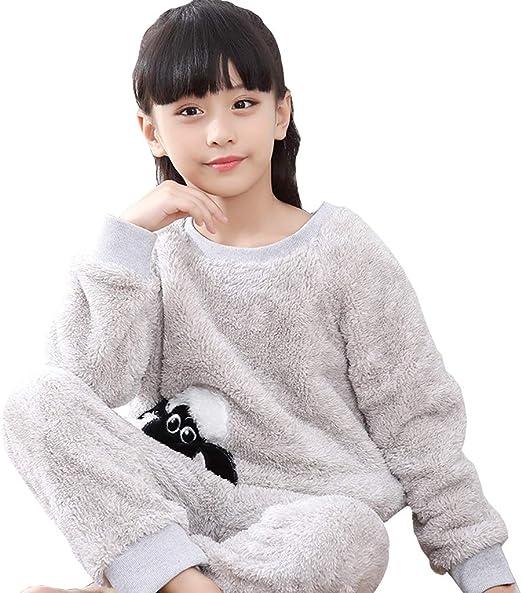 Pijamas Camisones Invierno De La Muchacha Franela For Niños ...