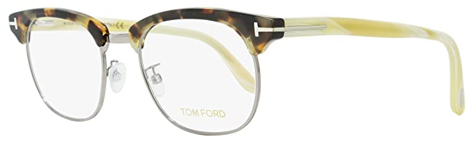 fe5b873946 Tom Ford Square Eyeglasses TF5342 052 Size  49mm Tortoise Ruthenium White  Horn FT5342