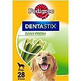 Pedigree Dentastix Fresh - Daily Dental Care Chews, Large Dog Treats from 25 kg+, 1 Box (1 x 1.08 kg / Total of 28 Sticks)
