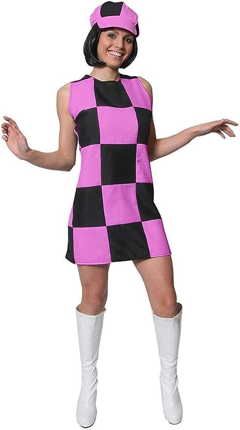 I LOVE FANCY DRESS LTD Vestido Corto DE Mujer Rosa TEMATICO AÑOS ...