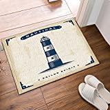 GoHeBe Sailor Spirit Decor Nautical Lighthouse in Vintage Bath Rugs Non-Slip Doormat Floor Entryways Outdoor Indoor Front Door Mat Kids Bath Mat 15.7x23.6in Bathroom Accessories