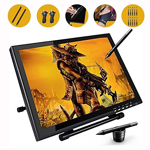 Ugee 1910B Digital Pen Tablet Display Drawing Monitor 19 Inch LCD Screen with 2 Original Cables and 2 (Touch Screen Monitor Pen)