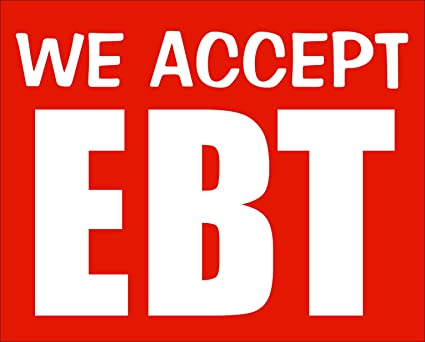 American Vinyl We Accept EBT Sticker (Business Store Window Electronic  Benefit Transfer Cards)