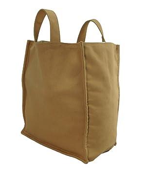 b869035a5 16oz Canvas Reusable Brown Paper Bag,Shopping bag,Grocery Tote Bag:  Amazon.ca: Home & Kitchen