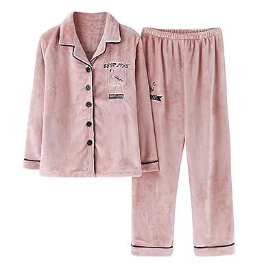 2020cd41d Tempatation Womens Soft Pajamas Sets Winter Fleece Sleepwear Long Sleeve  Pants at Amazon Women's Clothing store: