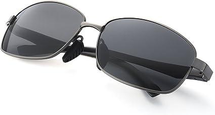 ELIVWR Gafas de Sol Hombre Rectangulares Polarizadas -Conducen/Corren/Moto, 100% de Protección Contra Los Rayos UVA/UVB Dañi