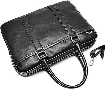 Casual Business Man Handbag Laptop Bags Leather Men Briefcase Solid Simple Mens Shoulder Bag Business Man Bag