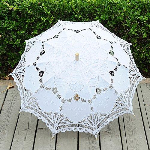 TBNA Bridal Lace Umbrellas Wedding Umbrella Bridal Parasol Umbrella for Bride Bridesmaid by TBNA Bridal (Image #2)