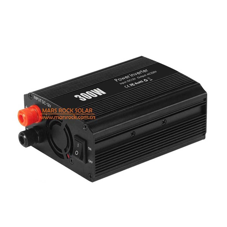 MarsRock 300W Off Grid Inverter, 12V DC to AC 110V or 220V Automobile Power Converter Modified Sine Wave Car Inverter (Black AC110Volt 50Hz )