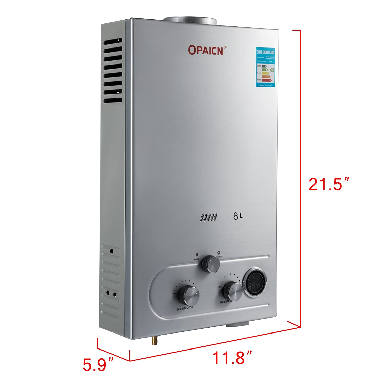Cueffer LPG Calentador de Agua Calentador de Agua de Gas Licuado 36KW Calentador de Agua Automático LCD Digital Calentador de Agua Instantáneo Propane Gas ...