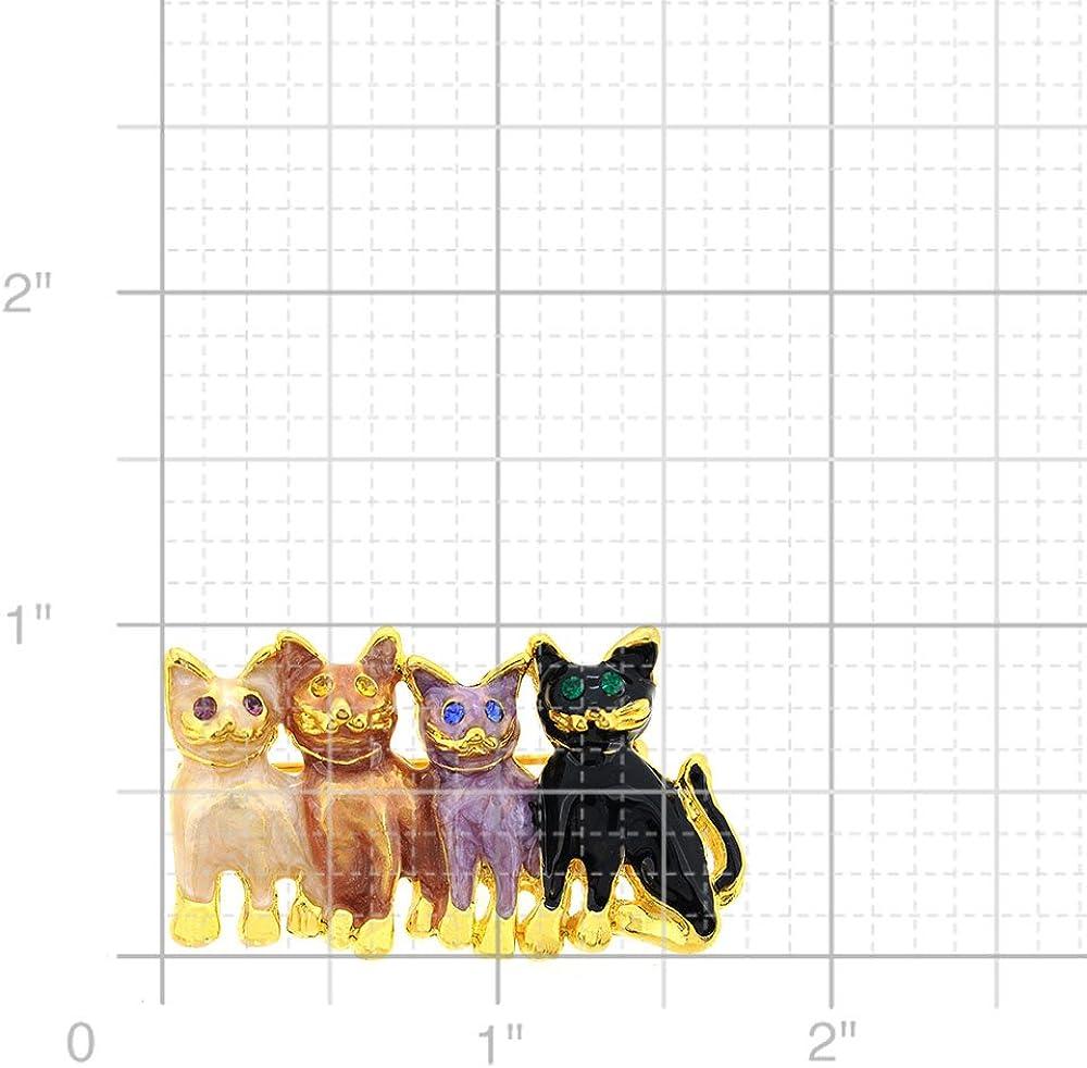 Fantasyard Four Cats Pin Brooch