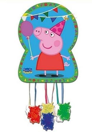 CAPRILO Piñata Infantil Decorativa Peppa Pig para Cumpleaños ...