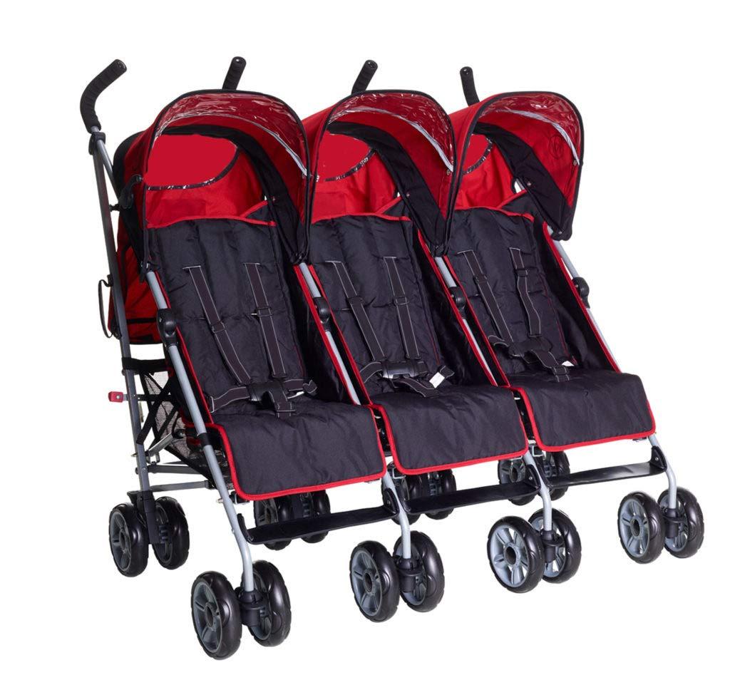 Kidz Kargo rosso ciliegia Passeggino per 3 bambini colore