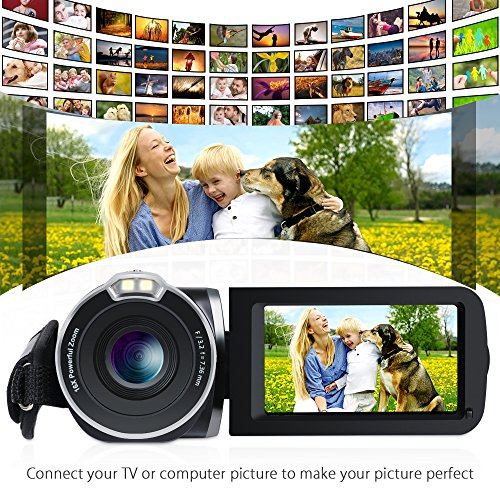 Video Camera camcorders, Ansteker HD Video Camera with 1080P 24MP 16X Digital Camcorders with 3.0 Inch LCD 270 Degree Rotation Screen