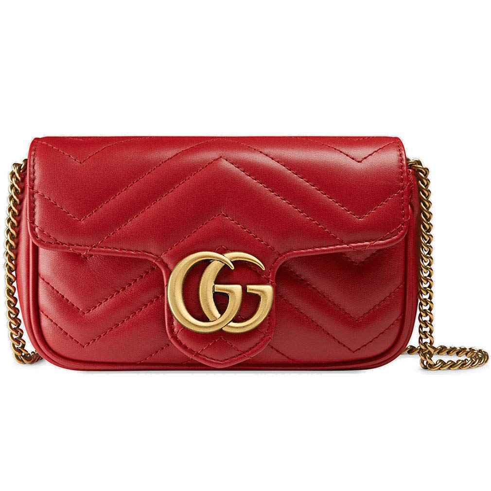 93e476a705245d Amazon.com: Gucci GG Marmont Matelasse Leather Super Mini Bag Handbag  Article:476433 DSVRT 6433: Shoes