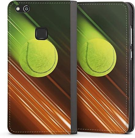 DeinDesign Klapph/ülle kompatibel mit Huawei P10 Handyh/ülle aus Leder schwarz Flip Case Pferd Hobby Stute