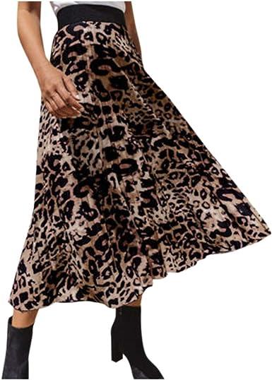 Faldas Mujer Cortas Sexy, Falda Estampada De Leopardo para Mujer ...