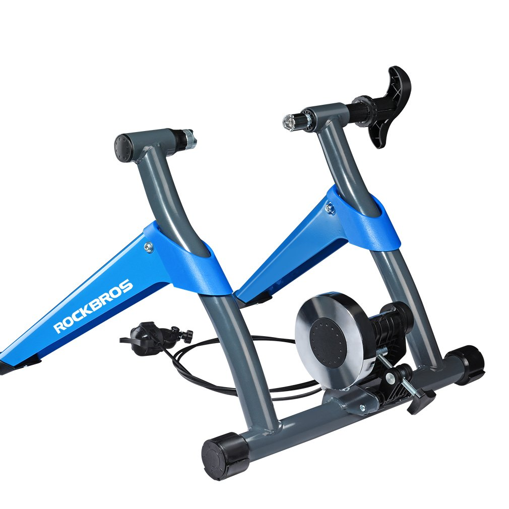 ROCKBROS Home Trainer V/élo Smart et Home Trainer Magn/étique Entra/îneur R/églable Turbo de V/élo Route VTT Noir Bleu